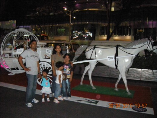 black people with white horse